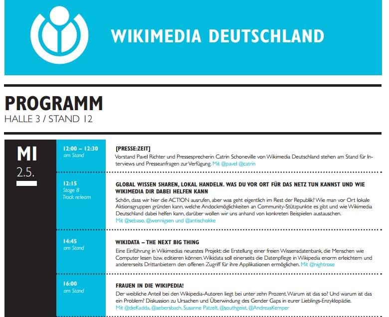 Wikimedia Deutschland bei der #rp12